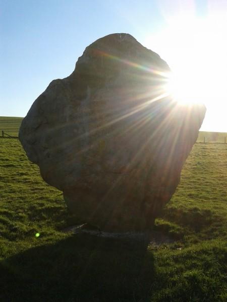 Sarsen stone, sunfall